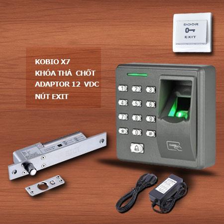Bộ sản phẩm kiểm soát ra vào dùng vân tay Kobio X7 không kết nối máy tính